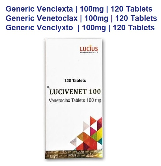 venclexta, venetoclax, venclexta, chemotherapy drug information, venetoclax side effects, venetoclax cll, venetoclax aml, venetoclax price, ventoclax multiple myeloma, venetoclax dose, venetoclax myeloma, venetoclax manufacturer, abbvie, venclexta aml, venclexta cost, venetoclax price in india, venclyxto price, venclyxto cost, venclyxto cost in india, lucius pharmaceuticals, lucius lucivenet 100mg 120 tablets
